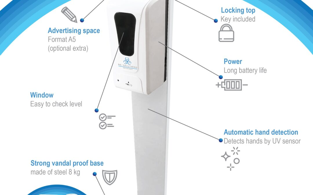 NEW AUTOMATED HAND SANITISING STATION NOW AVAILABLE